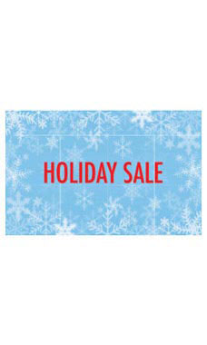 Medium Sale Sign Card - Snowflakes