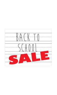 Small Back to School Sale Sign Cards
