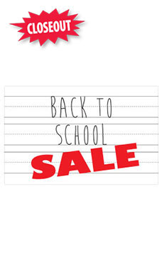 Medium Back to School Sale Sign Cards