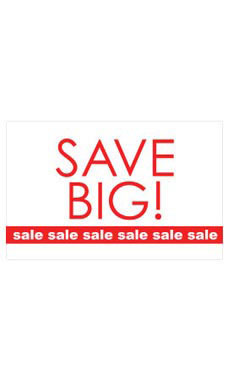 Medium Save Big - Sale, Sale, Sale Sign Card