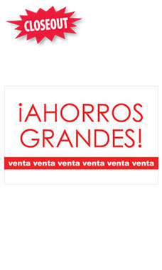 Medium Ahorros Grandes! Sign Card