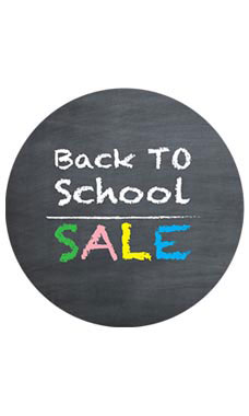 Circle Back to School Sale- Chalkboard Sign Cards