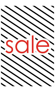 Large Vertical Sale-Diagonal Stripes Sign Card
