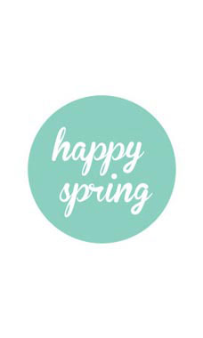 Aqua Happy Spring Stickers