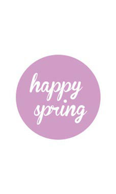 Lavender Happy Spring Stickers