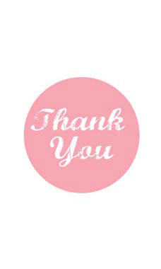 Pink Thank You Stickers