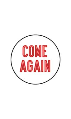 White Come Again Stickers