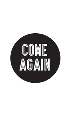 Black Come Again Stickers