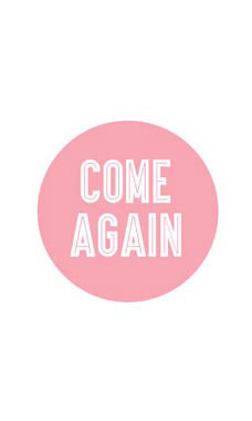 Pink Come Again Stickers