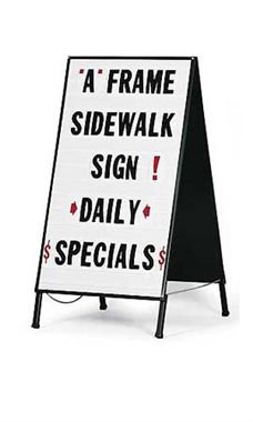 Changeable-Lettering A-Frame Sign