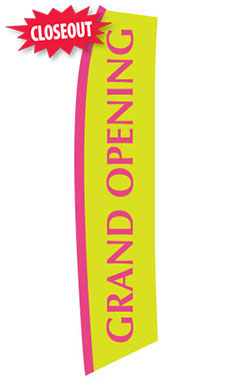 Pink, Yellow Grand Opening Wave Flag