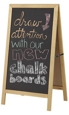Wood A-Frame Chalkboard Sign