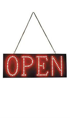 Horizontal LED Open Sign