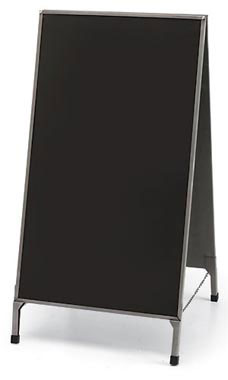 Boutique Raw Steel A-Frame Chalkboard Sign