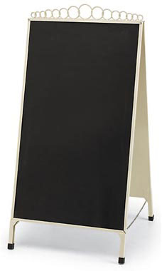 Boutique Ivory A-Frame Chalkboard Sign