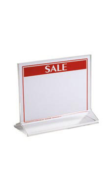 7 x 5 ½ inch Double-Sided Acrylic Sign Holder