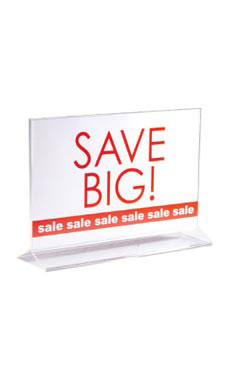 11 x 7 inch Double-Sided Acrylic Sign Holder