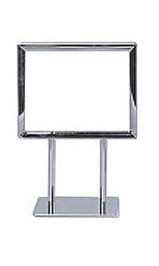 5 ½ x 7 inch Twin Stem Metal Countertop Sign Holder