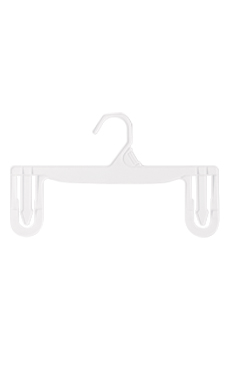 11 inch White Plastic Skirt and Pants Hangers