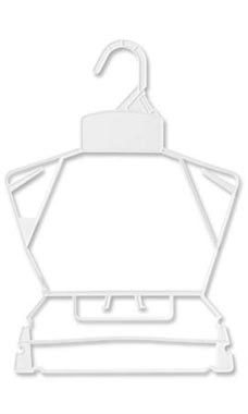 Economy White Children's Plastic Clothing Hanger Set