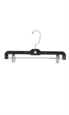 Regular Plastic Skirt/Pant Hanger - Black - 14""
