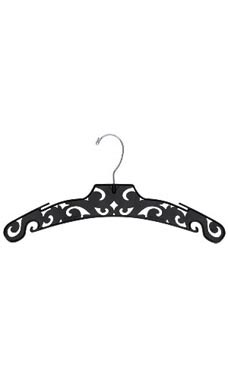 Boutique Black Carved Plastic Dress Hangers