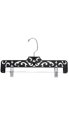 Boutique Black Carved Plastic Pants Hangers