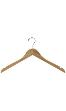 17 inch Bamboo Wood Dress Hangers