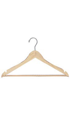 17 inch Natural Wood All Purpose Hangers