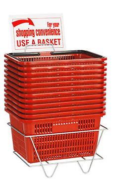 Shopping Basket Set of 12 - Red - 26105