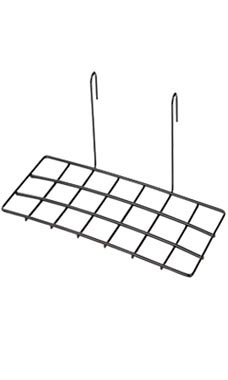Black Shoe Shelf for Wire Grid