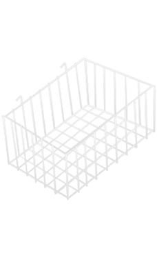12 x 8 x 4 inch White Mini Wire Grid Basket for Wire Grid