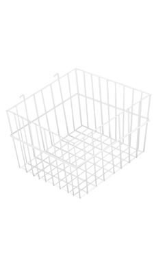 12 x 12 x 8 inch White Mini Wire Grid Basket for Wire Grid