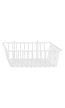 12 x 12 x 4 inch White Mini Wire Grid Basket for Wire Grid