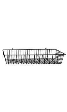 24 x 12 x 4 inch Black Mini Wire Grid Basket for Wire Grid