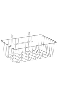 12 x 8 x 4 inch Chrome Mini Wire Grid Basket for Wire Grid