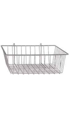 12 x 12 x 4 inch Chrome Mini Wire Grid Basket for Wire Grid