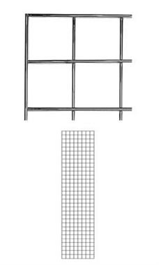 2 x 8 foot Chrome Wire Grid Panel