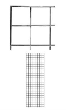 2 x 6 foot Chrome Wire Grid Panel
