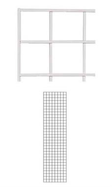 White Wire Grid Wall Panel 2' x 8'