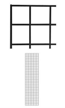 2 x 8 foot Black Wire Grid Panel