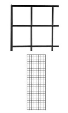 Black Wire Grid Wall Panel 2' x 6'