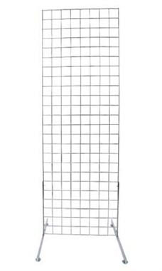 2 x 6 foot Chrome Standing Grid Screen