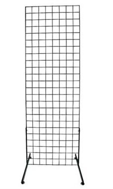 2 x 6 foot Black Standing Grid Screen
