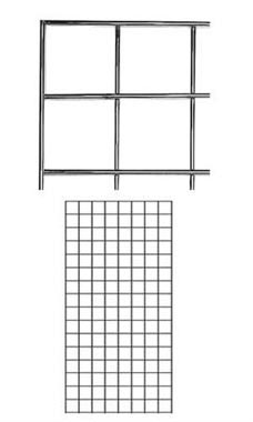 2 x 4 foot Chrome Wire Grid Panel
