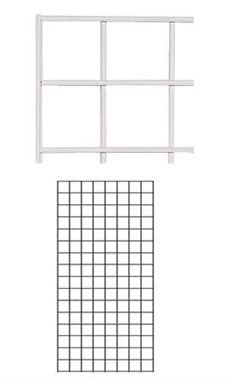 White Wire Grid Wall Panel 2' x 4'