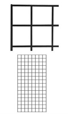 2 x 4 foot Black Wire Grid Panel