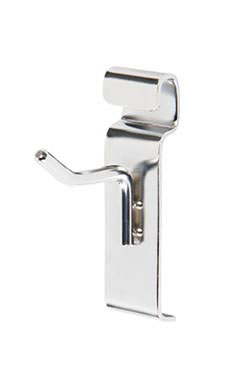 "Chrome 2"" Peg Hook for Wire Grid"