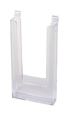 "4 ½"" x 8 ½"" Clear Acrylic Literature Holder for Wire Grid"
