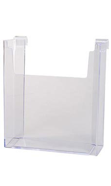 8 ½ x 11 inch Clear Acrylic Literature Holder for Wire Grid